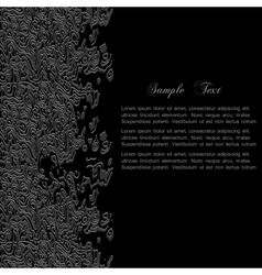Stylish black abstract background for design vector image