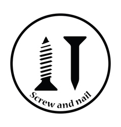 Icon of screw and nail vector