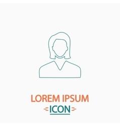 Female user computer symbol vector