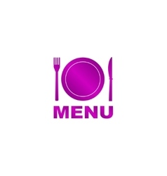 Menu with cutlery sign vector