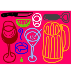 bar icon set vector image vector image