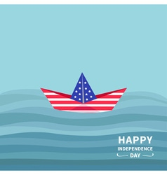 Boat in the ocean independence day 4 of july vector