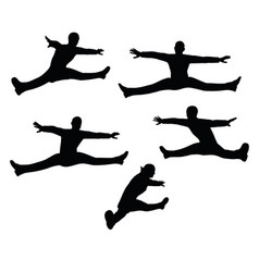 Businessman toe touch on white background vector