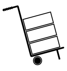 Cart delivery or shipment the black color icon vector