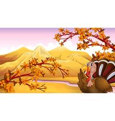 Cartoon Autumn Turkey vector image
