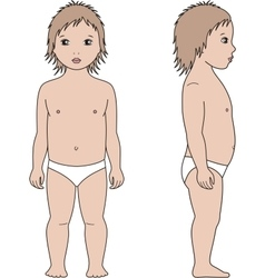 Child figure front and side vector
