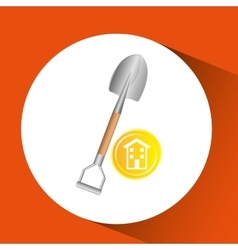 Construction remodel shovel icon graphic vector
