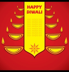creative happy diwali greeting design by diyas vector image vector image