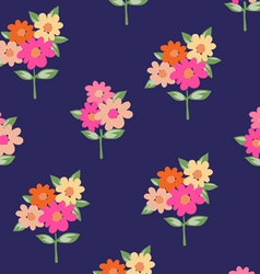 Cute pink flowers vector