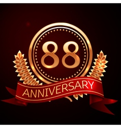 Eighty eight years anniversary celebration with vector