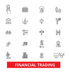 Financial trading finance banking trade stock vector