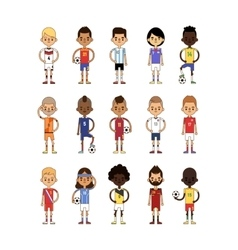 Football team sport soccer players group vector