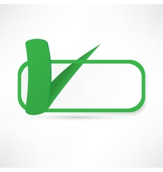 Green check box with check mark vector
