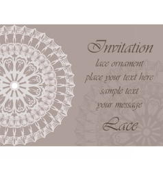 Invitation card with delicate ornaments vector image vector image