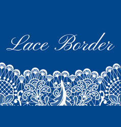 Lace border card vector