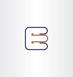 letter e line logo icon design symbol sign vector image