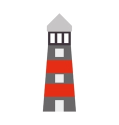 Lighthouse building construction design vector