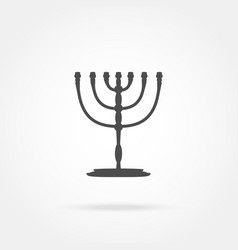 Menorah religion icon vector