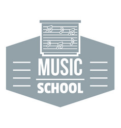 music school logo simple gray style vector image