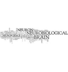 Neurobiological word cloud concept vector