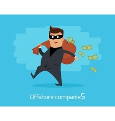 Offshore Companies Concept Flat Design vector image