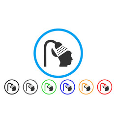 Open mind shower rounded icon vector