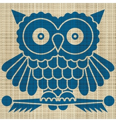 owl print vector image vector image