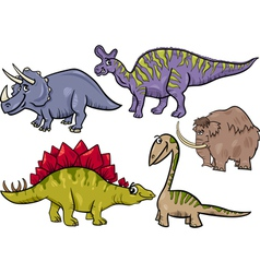 Prehistoric set cartoon vector