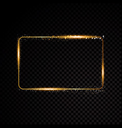 rectangle frame shining banner isolated vector image vector image