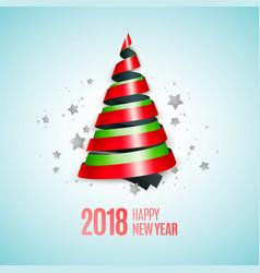 Ribbon christmas tree vector
