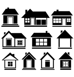 set isolated house vector image