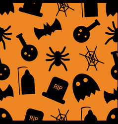 set of halloween objects vector image