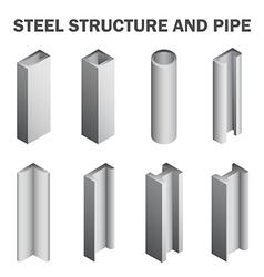 Steel icon vector