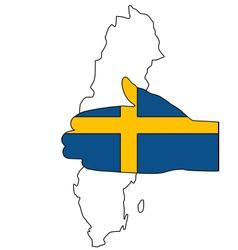 Swedish handshake vector
