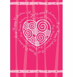 Valentine's day card with heart vector image vector image