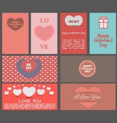Valentines day heards cards vector