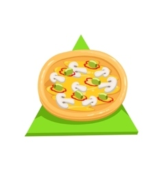 Vegetarian PizzaPart Of Italian Fast Food Cuisine vector image