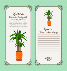 Vintage label with yucca plant vector