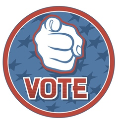 vote USA badge vector image vector image
