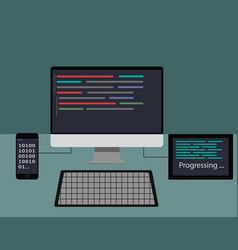 web developer concept vector image