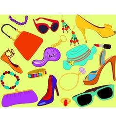 Womans accessory set vector image