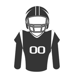 Silhouette player football american isolated vector