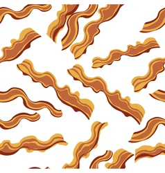 White bacon textile print food seamless pattern vector