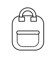 Bag school pupil outline vector