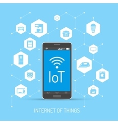 Internet of things concept in vector