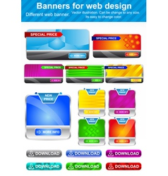 Banners for Web Design vector image