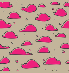 Cute clouds seamless pattern vector