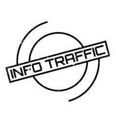 info traffic rubber stamp vector image
