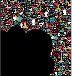 Social media network icons background vector