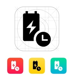 Battery live time icon vector